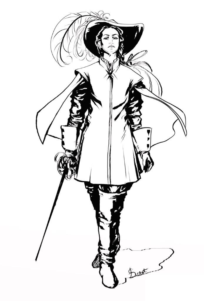 musketeer woman