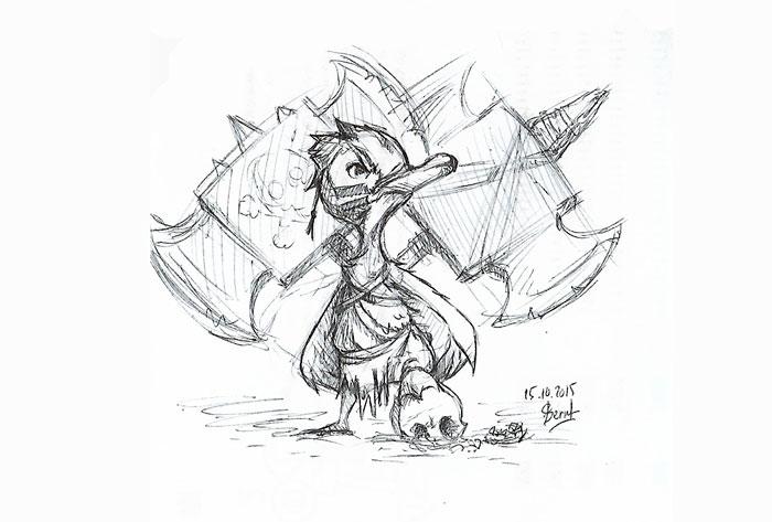 Griffonnage sketchbook