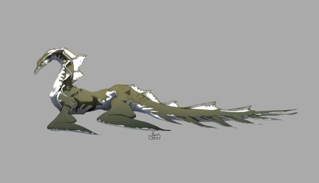 Water dragon-whiteBG